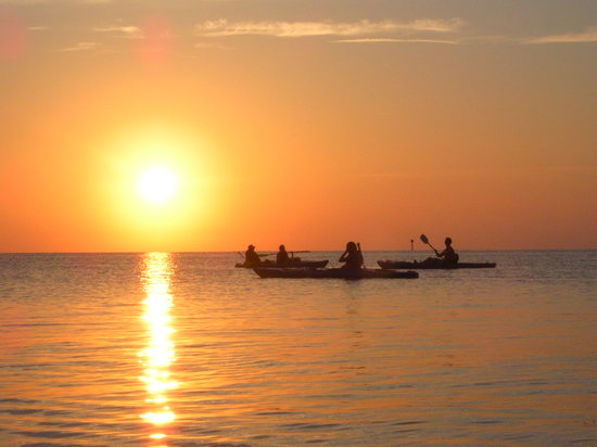 Ocracoke, Kuzey Carolina: Sunset during Kayak trip