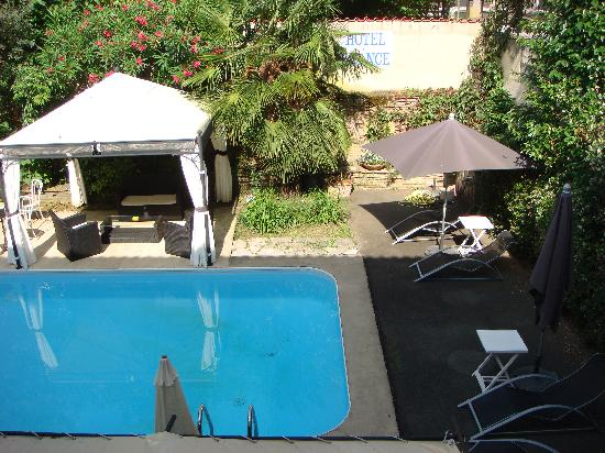 Bergerac, France : View of pool from our room