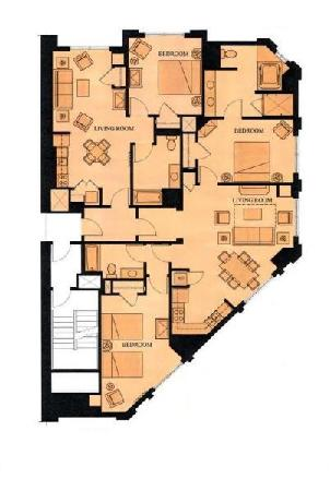Incredible 3 Bedroom Floor Plan Picture Of Marriotts Grand Chateau Download Free Architecture Designs Rallybritishbridgeorg