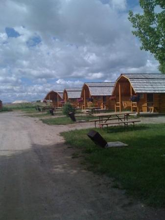 Bear Lake/Garden City KOA Campground: cabin row