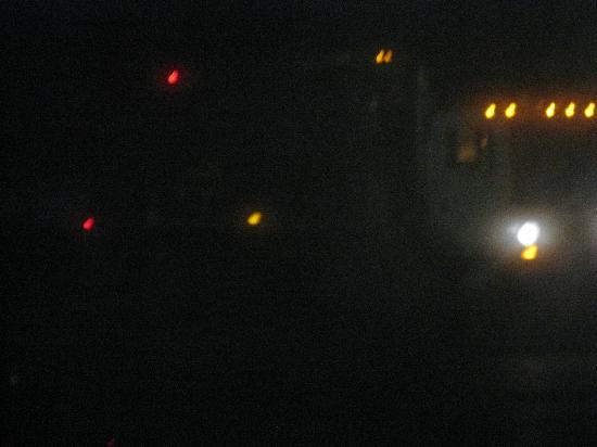 Quality Inn & Suites Rainwater Park : Dump Truck at 3:29 AM
