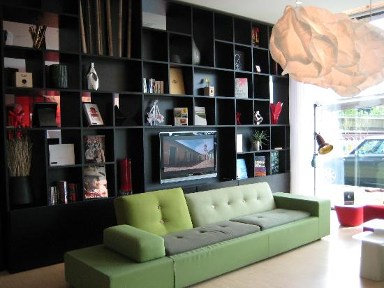 citizenM Schiphol Airport: part one of many areas in the lobby to relax