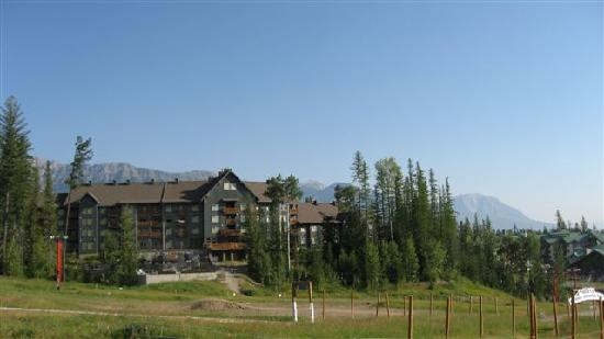 Snow Creek Lodge from the hillside opposite