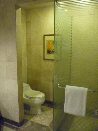Pan Pacific Manila: toilet and shower