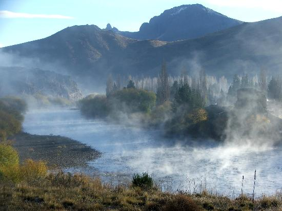 San Carlos de Bariloche, Argentina: morning fog on Limay River