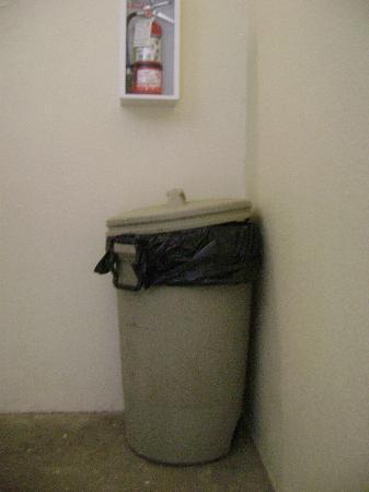 Rodeway Inn Golden Prairie : trashcan in hallway