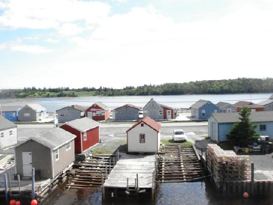 The Inn at Fisherman's Cove : View from Blue Heron Balcony - Straight (village)