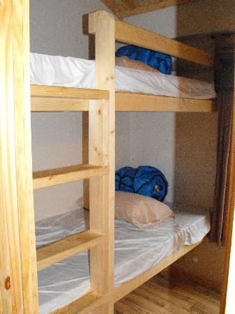 Yogi Bear's Jellystone Camp-Resort at Larkspur Colorado: The bunk beds with only sleeping bags
