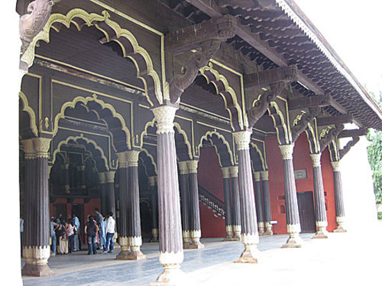 Tipu Sultan Fort and Palace - Bangalore KR Market : Front entrance facade