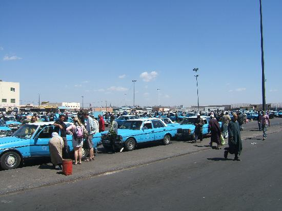 Taxi point and bus station opposite the souk in Inezgane