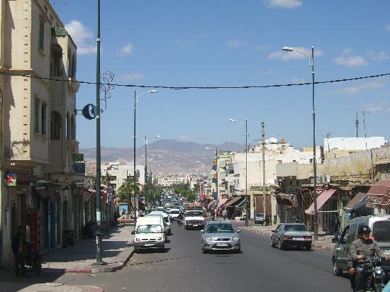 Inezgane with Atlas Mountains in background