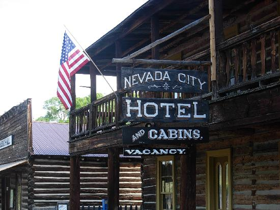 Nevada City Hotel Cabins Outside Of