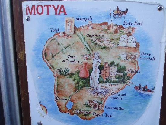 Isola di Mozia (Mothia)/ San Pantaleo: Pianta dell'isola