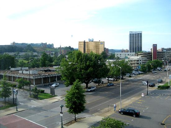 Chattanooga Marriott Downtown: views from room 406
