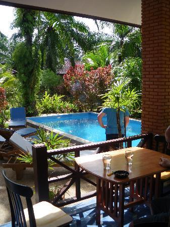 Alisea Pool Villas : Rear terrace, pool and gardens