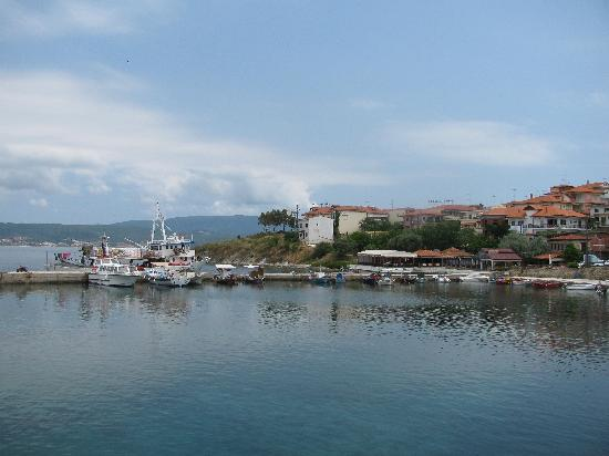 Agionissi Resort: Town from the ferry