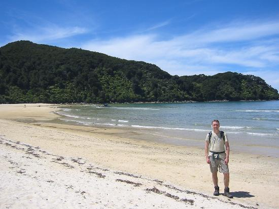 McCormick House Luxury Accommodation : Walking in Abel Tasman - having taken a sea taxi