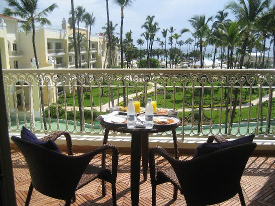 Iberostar Grand Hotel Bavaro: Room service breakfast on the deck- AWESOME!!!!