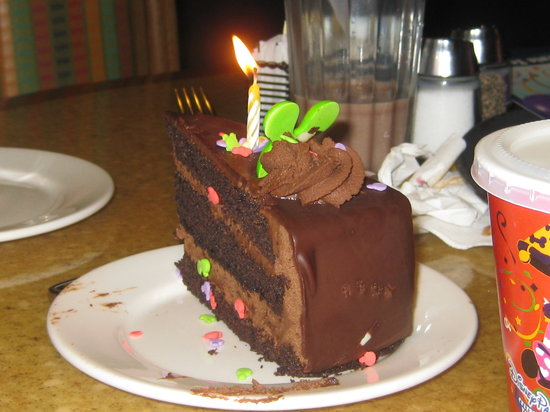 Garden Grill Chocolate Birthday Cake