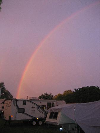Eastern Long Island Kampground: Rainbow after a storm