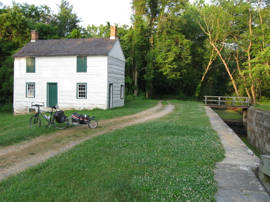 Maryland: Lockhouses have been preserved but not restored for habitation