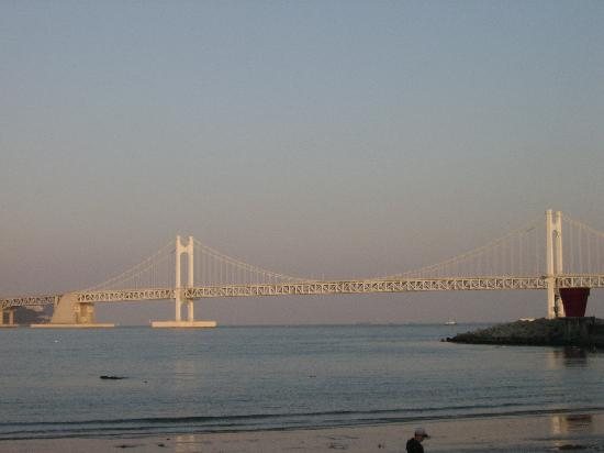 Gwangalli Beach: Looking towards the Gwangando Bridge