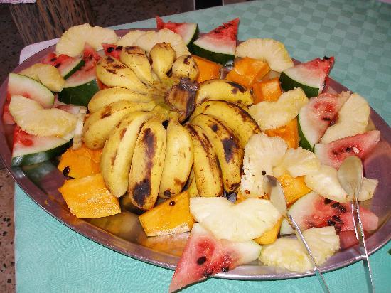 The Manta Resort: great fruit platter