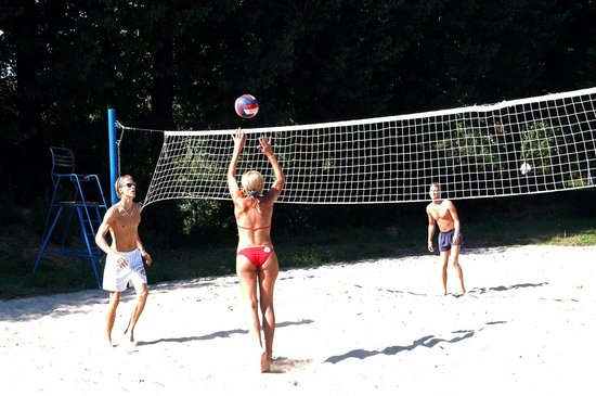 Somogy County, Hungary: Lake Balaton, volleyball