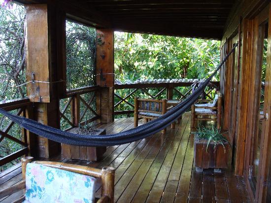 Roatan Bed & Breakfast Apartments: The deck.