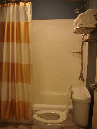 SpringHill Suites Birmingham Colonnade : Shower and toilet