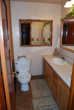 Rustic Wagon RV Campground & Cabins: small bath