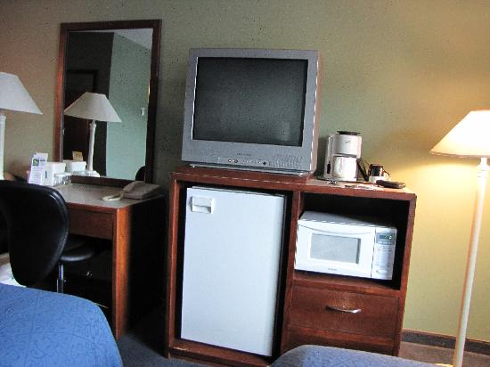 Canadas Best Value Inn & Suites- Castlegar : Fridge, TV & microwave