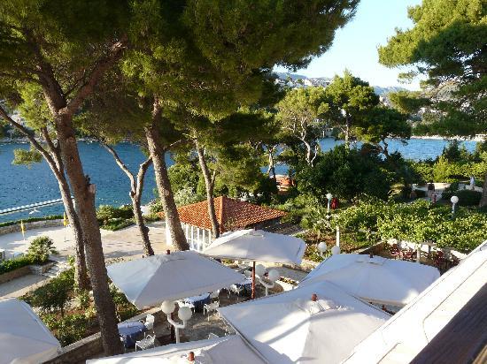 Hotel Splendid : vue de la terrasse de notre chambre
