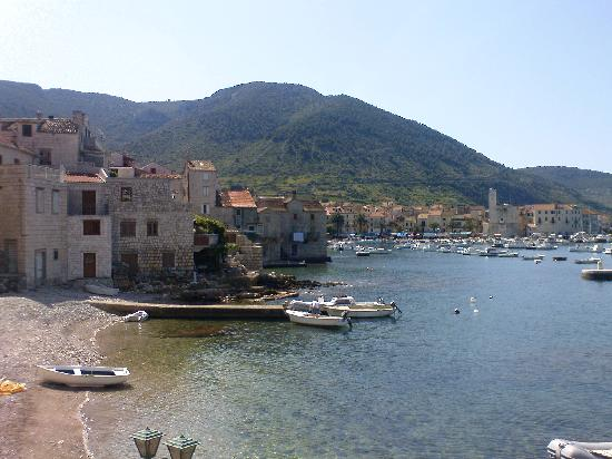 Villa Kamenica: View of Komiza harbour