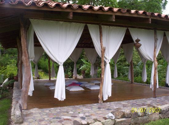 Hacienda San Lucas: Yoga area