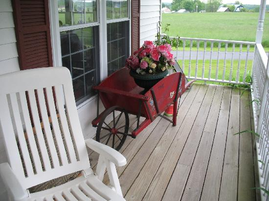 Canton, NY: House porch decor
