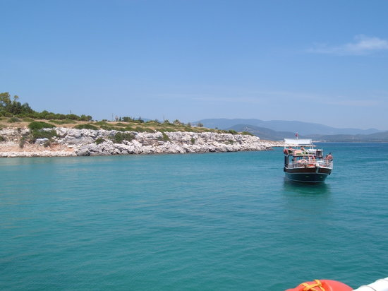 Altinkum, Turchia: on boat trip