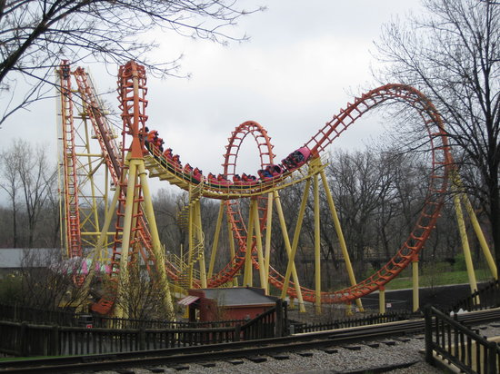 Worlds Of Fun Oceans of Fun: The Vekoma Boomerang - short and...well, short.