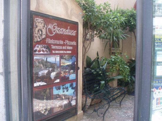 Ristorante Granduca: The entrance