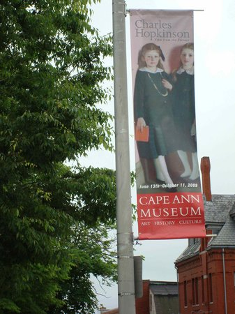 "Cape Ann Museum banner for the Charles Hopkinson ""View from the Terrace"" exhibition"