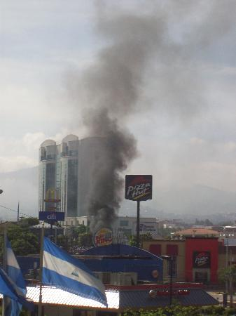 Clarion Hotel Real Tegucigalpa: Pic of the Coup from my room! :-)