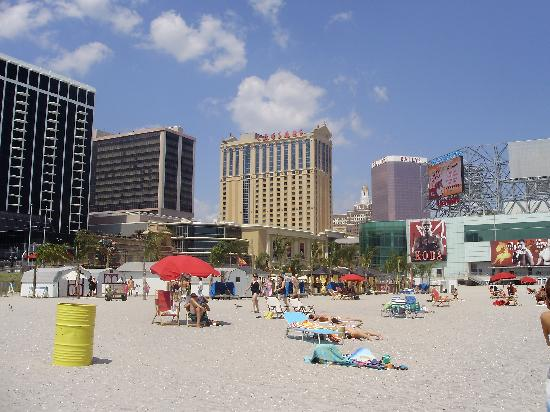 Caesars Atlantic City: View from the Beach