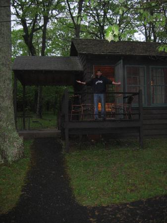 Lewis Mountain Cabins : Outside of the cabin