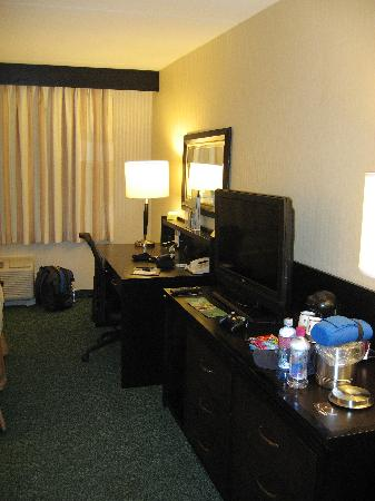 Doubletree Hotel Chicago / Alsip: Television and desk area