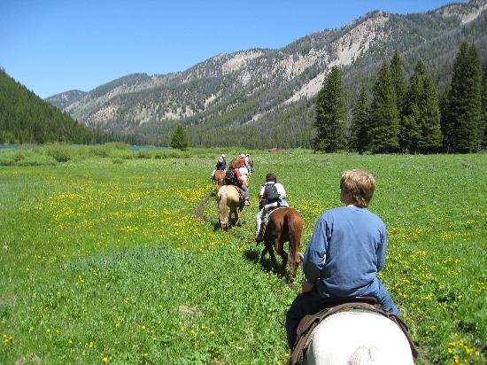 Flat Creek Ranch: Horseback Riding Back to the Barn