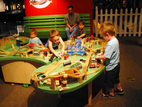 California State Railroad Museum: Kids Have A Great Time With Train Tables  Set Up Especially
