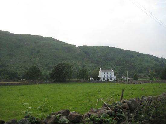 Brook House Inn and Restaurant: From the path to the chapel and river.
