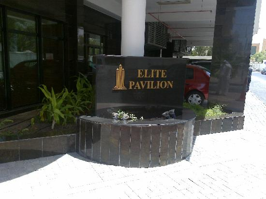 Elite Pavilion: Sign outside the hotel