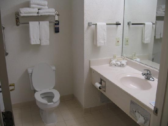Quality Inn & Suites : Bathroom