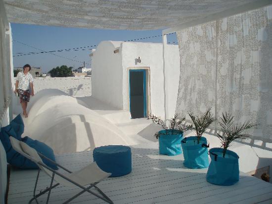Erriadh, Túnez: Rooftop terrace